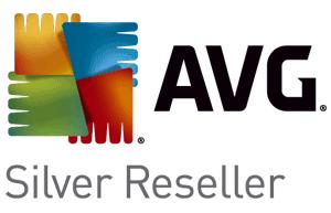 AVG Logo Silver Reseller