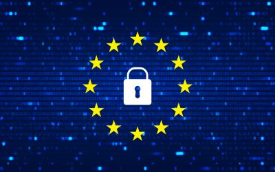 GDPR - General Data Protection Regulation background. Data backdrop with blur effect. Vector Illustration with concept of security technology. Coding concept with binary computer code.