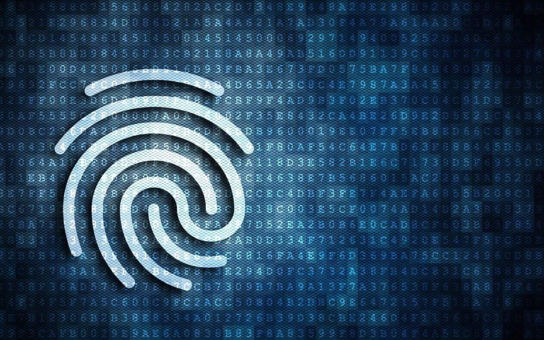 digital authentication fingerprint concept