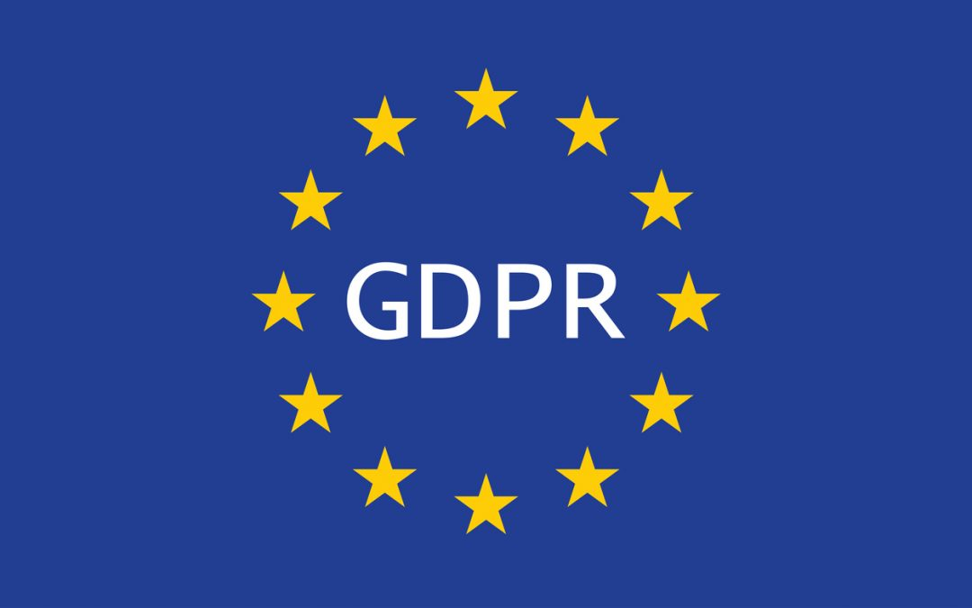 General Data Protection Regulation (GDPR) on the european union flag