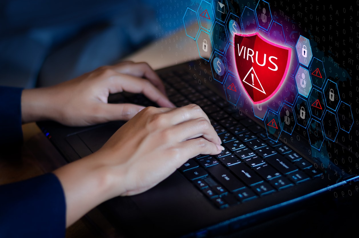 anti virus software working on a computer