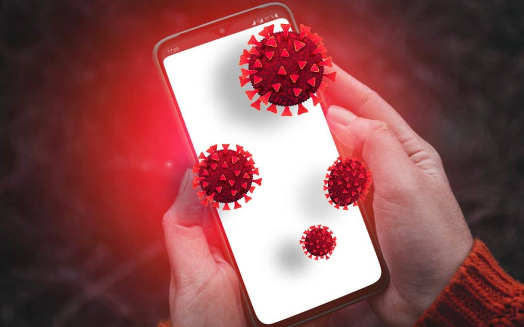 Online hacker targets confidential information or personal data during coronavirus pandemic.